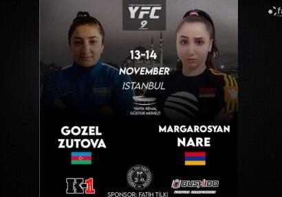 Qadın MMA döyüşçümüz erməniyə qarşı - FOTO